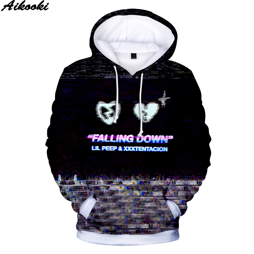 lil peep and xxxtentacion 3D Hoodies Sweatshirts Men/Women Fashion Hip Hop Hoodies xxxtentacion Sweatshirts Hot sale 3D Hoodie super bowl ring 2019