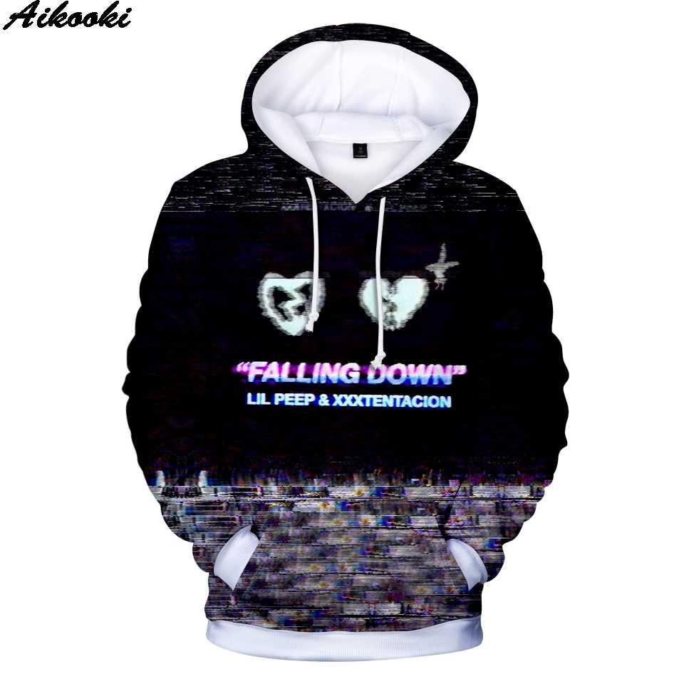 4c2bd41575c19 Sudaderas con capucha 3D lil peep y xxxtentacion sudaderas para  hombres mujeres moda Hip Hop