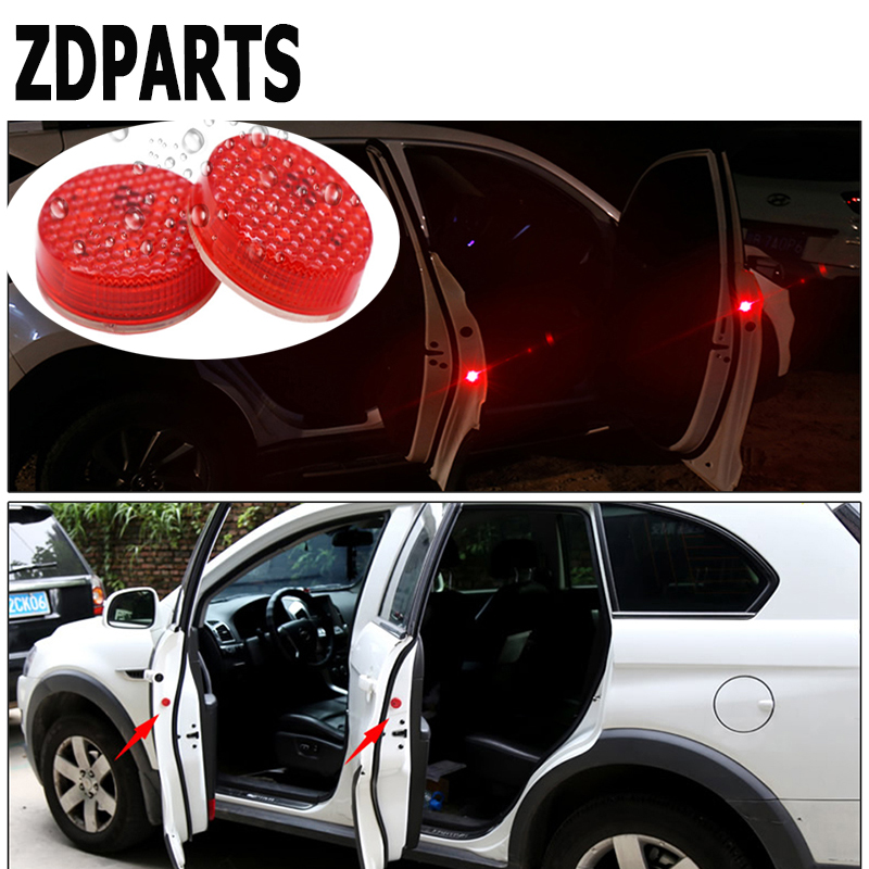 ZDPARTS Car Door Warning Signal Light LED Wireless Avoid Crash For BMW E46 E39 E60 E90 E36 F30 F10 X5 E53 E30 Mini Cooper Lada