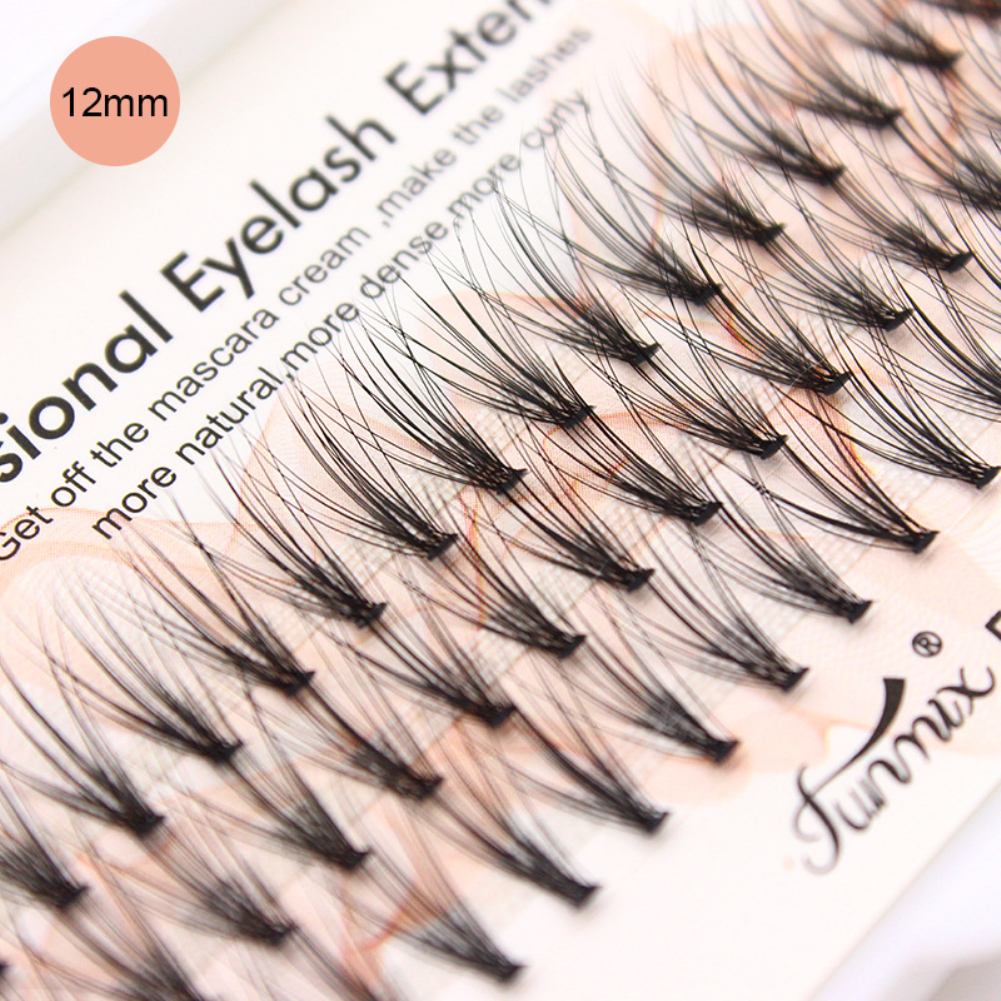 8c345c99806 FUNMIX 20 Roots 0.07mm Thickness False Eyelash Eyes Makeup Lashes  Extensions Soft Imitation 8/10/12 mm Rabbit hair Fake Lashes