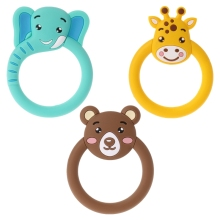 Детский Прорезыватель мультфильм зубные кольца для детей силиконовый без бисфенола А ожерелье игрушки