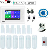 SmartYIBA Drahtlose 3g WCDMA Alarmanlage KIT WIFI RFID Home Security Alarm System Mit Video IP Kamera Rauch Feuer sensor