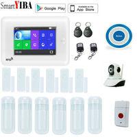 SmartYIBA Wireless 3G WCDMA Burglar Alarm KIT WIFI RFID Home Security Alarm System With Video IP Camera Smoke Fire Sensor