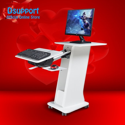 2018 New Kesrer-X Multifunctional Moving Laptop Desk Sofa Bedside Tablet PC Stand Lazy Lift Long Arm Mobile PC Table TV mount