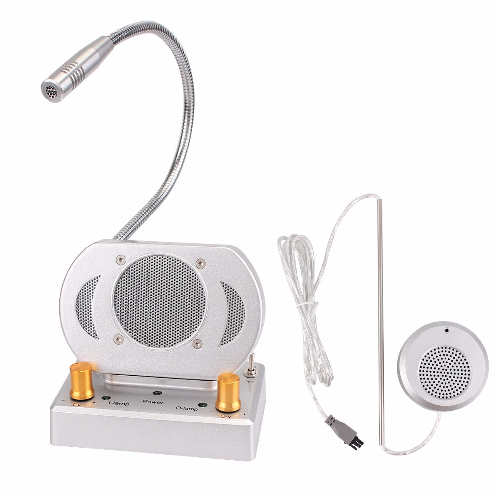 Auto Dual-way Window Intercom Counter Interphone System External Speaker For Bank Hospital Bus/Train/Railway Station F3332D two way cash window non visual intercom between the master and substation e361