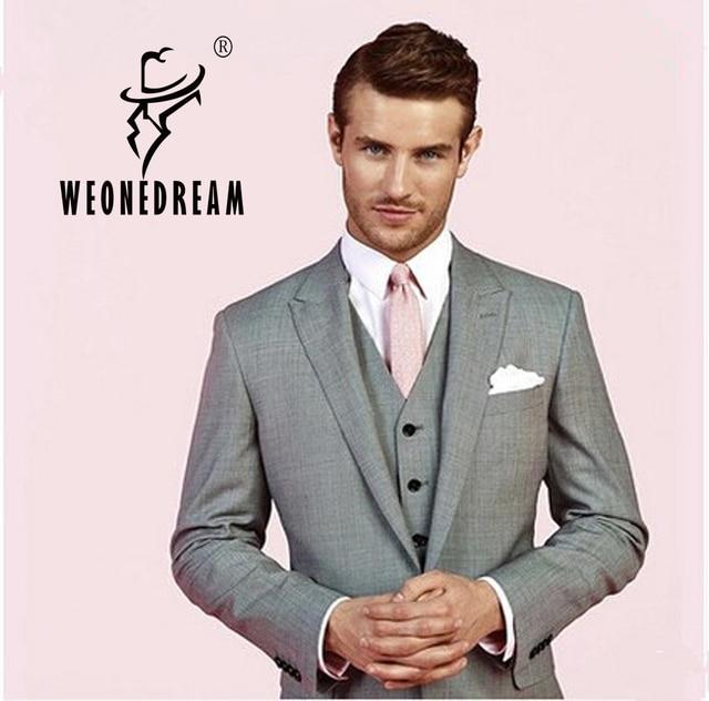 Aliexpress.com : Buy Custom Made Mens Light Grey Suits, Grey ...