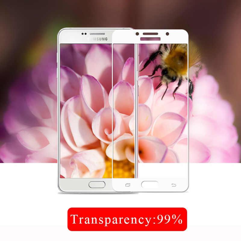 Completa Tampa de Vidro Temperado Para Samsung Galaxy A6 2018 A3 A5 A7 9 A8 Plus 2016 A5 2017 Protetor De Tela H Película Protetora