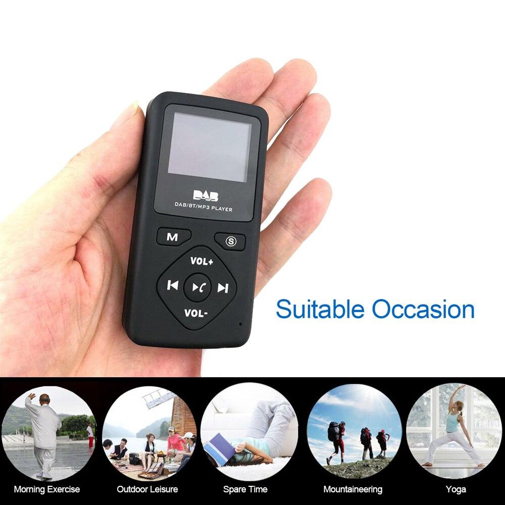 Image 4 - Multimedia play Portable Pocket DAB/DAB /FM Radio Receiver with  Earphone LCD Display Screen Rechargeable Multimedia playerRadio   -