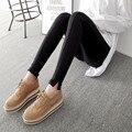2016 Women Autumn Leggings Black Gray Split Casual Cotton Pants High Elastic Slim Fashion Gray Pants Winter Casual Leggins