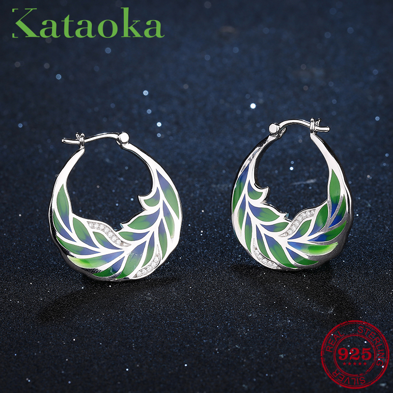 Close nature Green palm leaves  Earrings For Women 925 Sterling Silver clear Cubic Zirconia Earrings Party Fashion Jewelry Close nature Green palm leaves  Earrings For Women 925 Sterling Silver clear Cubic Zirconia Earrings Party Fashion Jewelry