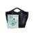 CUPOM couro Grande capacidade tote bolsas pretas mulheres trapézio Fantasma tote bag lady bolsa de ombro casual hobos estilo simples PU