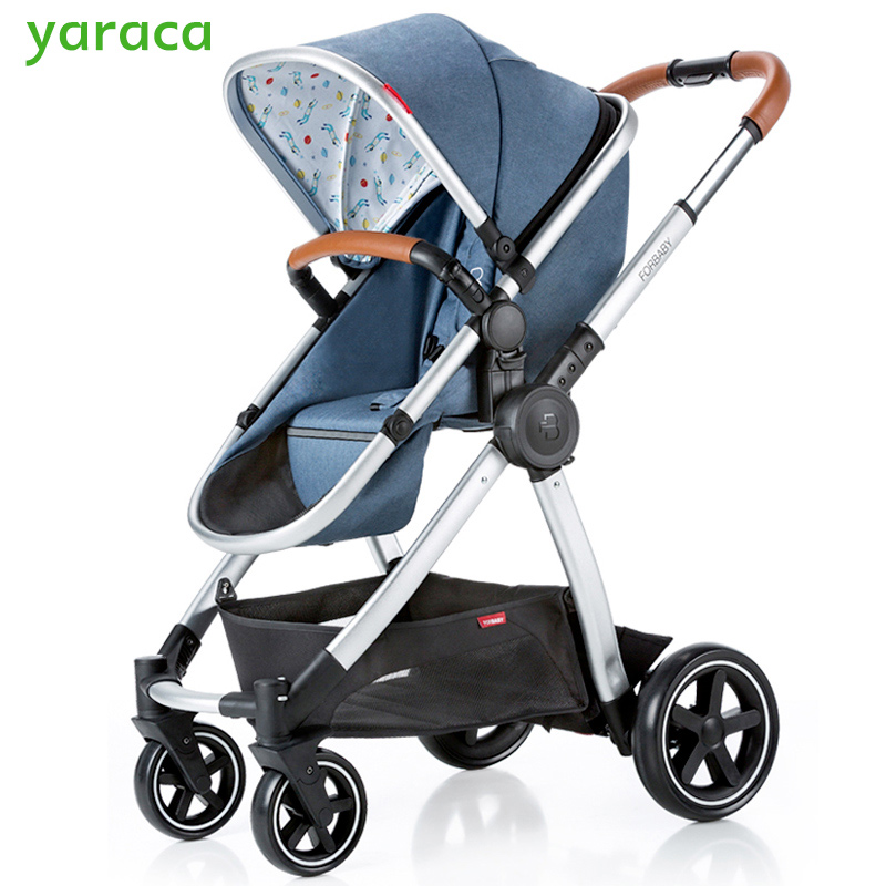Baby Stroller 2 in 1 High Landscape Baby Carriage Portable Folding Prams For Newborns Baby Pushchair Trolley Cart For Infant twin stroller high landscape can lay the portable folding baby cart