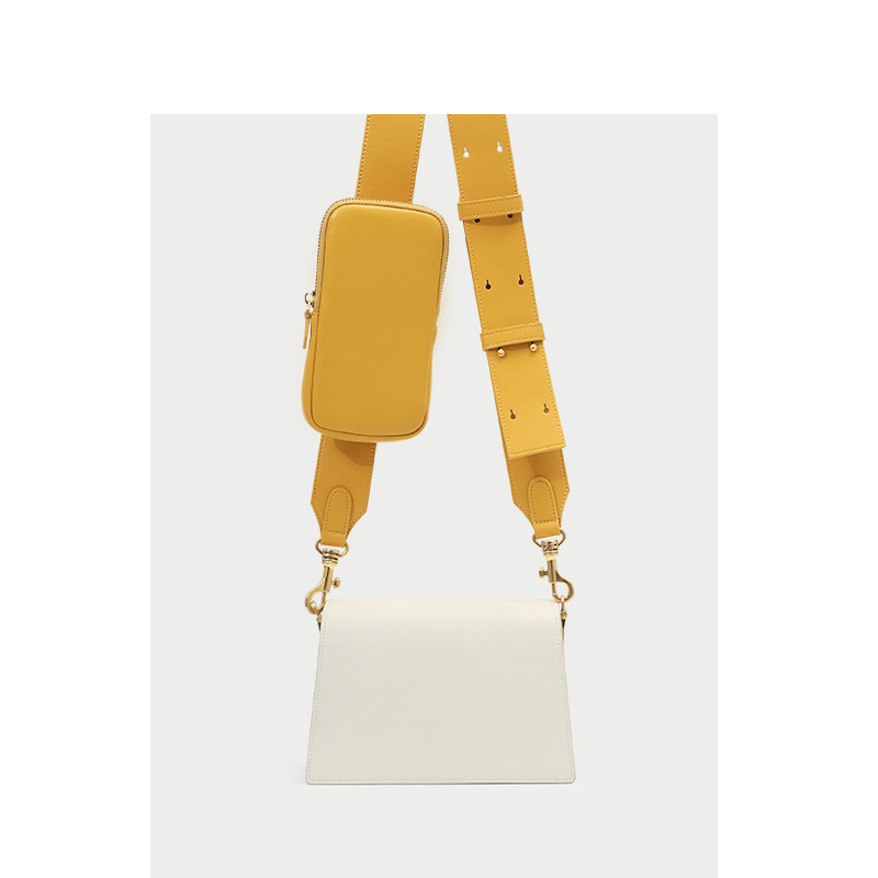 Genuine Leather Handbag Wide Shoulder Strap Contrast Color Small Square Bag 2019 New Single Shoulder Messenger  Female BagsGenuine Leather Handbag Wide Shoulder Strap Contrast Color Small Square Bag 2019 New Single Shoulder Messenger  Female Bags
