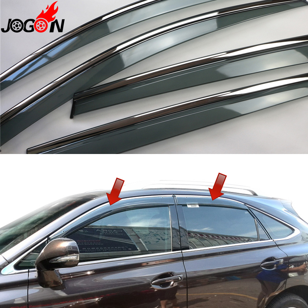 For Lexus RX AL10 RX270 RX350 RX450h 2010 2014 2015 Window Sun Rain Visors Vent Shade