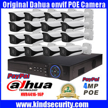 DAHUA NVR4416-16P 16ch 5MP smart POE IP camera system kit+16PCS DAHUA IPC-HFW4421E 4MP Full HD Network Small IR Bullet IP Camera