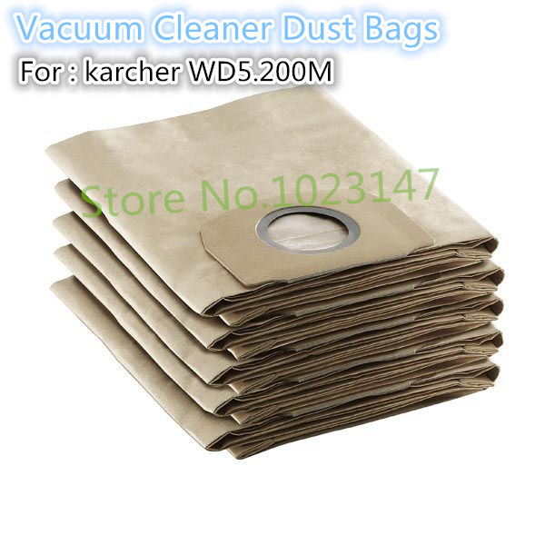 4 pieces/lot Vacuum Cleaner Parts Paper Bags Dust Bag Filter Bag for Karcher WD5.200,WD5.400 цена 2017