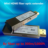 300m/1000ft Micro USB Mini HDMI fiber optical converter extender HDMI 1.4v (Transmitter + Receiver)via fiber OM3 Multimode cable