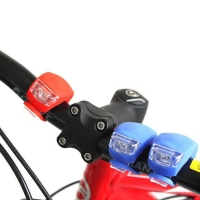 Bicycle Front Light Silicone LED Head Front Rear Wheel Bike Light Waterproof Cycling With Battery Bicycle Accessories Bike Lamp