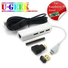 Network kit for Raspberry Pi Zero HDMI+Micro USB Hub+40 pin+Power Cable+Wireless