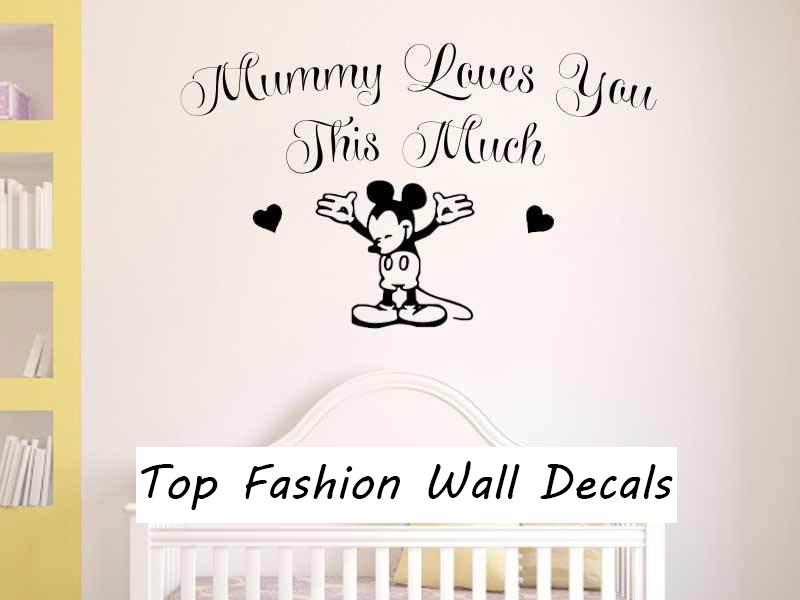 Nursery Wall Sticker Mickey Mouse Sticker Baby Boy Girl Bedroom