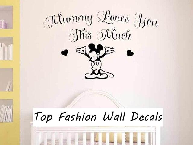 nursery wall sticker mickey mouse sticker, baby boy girl bedroom