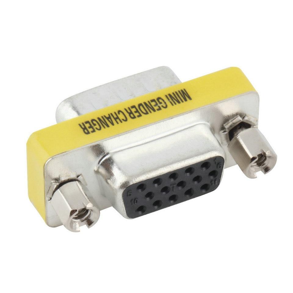 VGA/SVGA 15 pin Port Saver VGA Adapter Female to VGA Male D-sub Used with Monitors HDTVs Projectors VGA Splitters KVM
