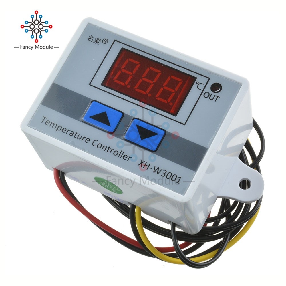 <font><b>XH</b></font>-<font><b>W3001</b></font> <font><b>W3001</b></font> Temperature Controller Digital LED Temperature Controller Thermometer Thermo Controller Switch Probe DC 12V image