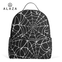 ALAZA Unique Spider Web Pattern Polyester Backpack School Travel Bag High Quality Fashion Travel Tote Backpack NEW