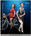 Kit sin pintar 1/35 mujeres europeas citizen no incluye la bici histórico WWII figura de resina Kit envío gratis