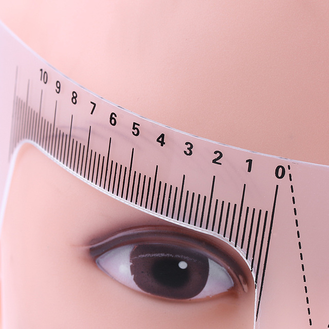 1PC New Fashion Reusable Semi Permanent Eyebrow Stencil Brow Measure Microblading Ruler Tattoo Supplies Makeup Tool Beauty 2