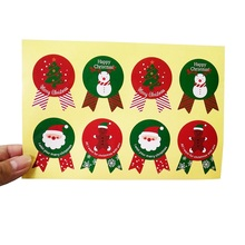 80 Pcs/lot Christmas Thems Gift Packing Label Sticker For Baking Package Box Bags Seal Stickers Medal Shape Decor Scrapbooking