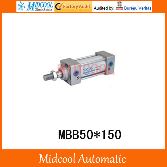 Double acting pneumatic cylinder MBB50*150 bore 50mm stroke 150mm high quality double acting pneumatic gripper mhy2 25d smc type 180 degree angular style air cylinder aluminium clamps