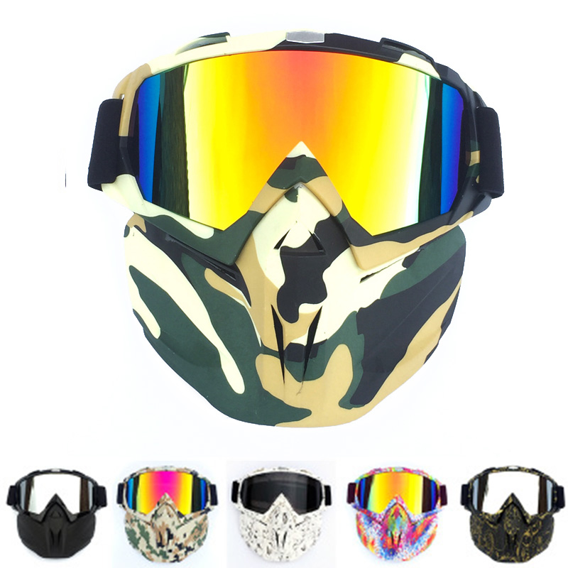 New Style Camouflage PainTactical Mask With Clean Cloth Protective Mirror Face Mask For Nerf Toy Gun Game Rival Outdoor  CS
