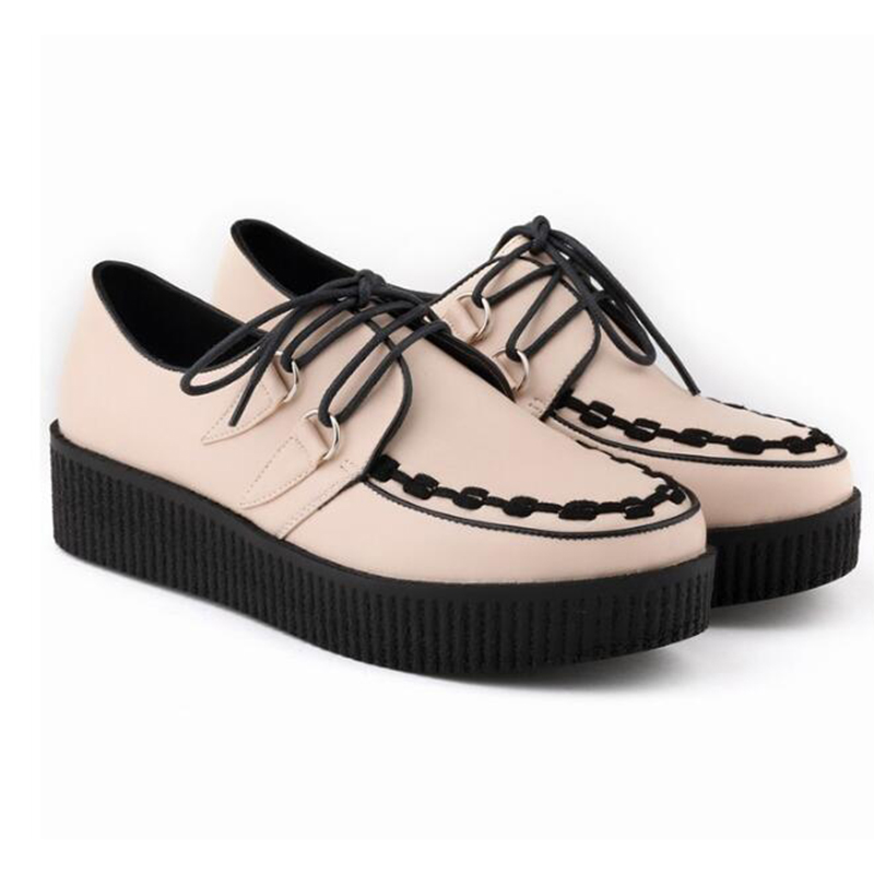 vrouwen schoenen Brand women new arrival sneakers Breathable Round Toe Casual Shoes Student Platform Shoes Flats Lace Up Ladies