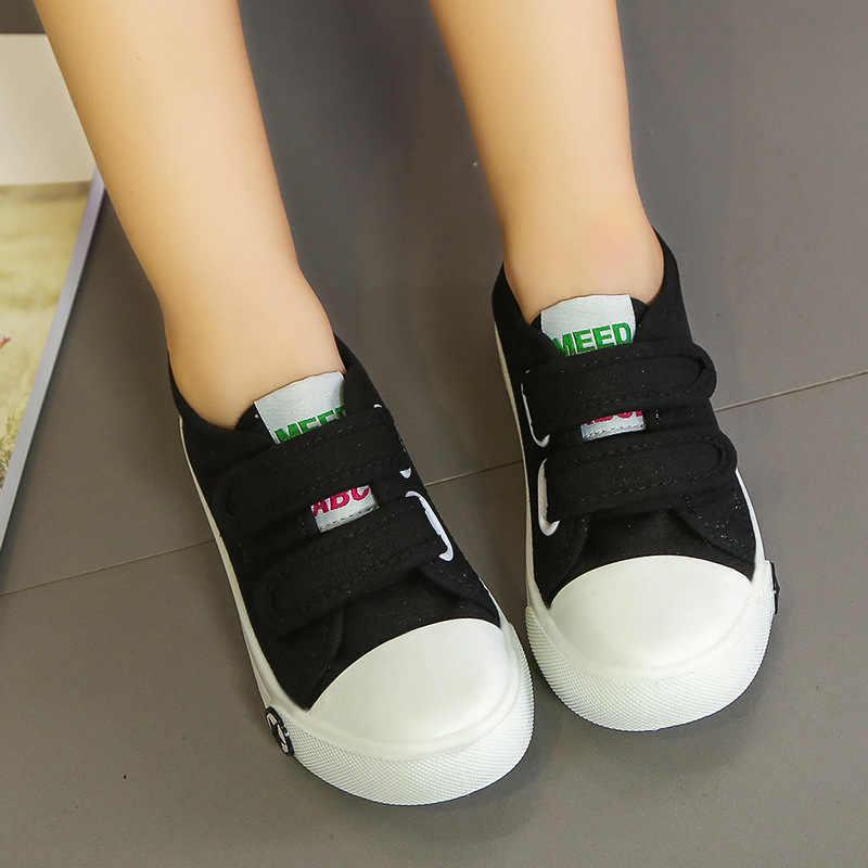 4 kleuren 2019 Kinderen Schoenen Meisjes Jongens Candy Kleur Peuter Canvas Babyschoenen Comfor Kid Casual Schoenen Sneakers 1- 12 jaar oud
