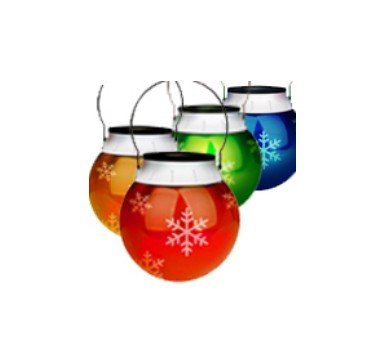 Free Shipping For 4pcs Solar Christmas Ornament Outdoor Led Light Lantern Holiday Colored Snow Flake Lamp Hot