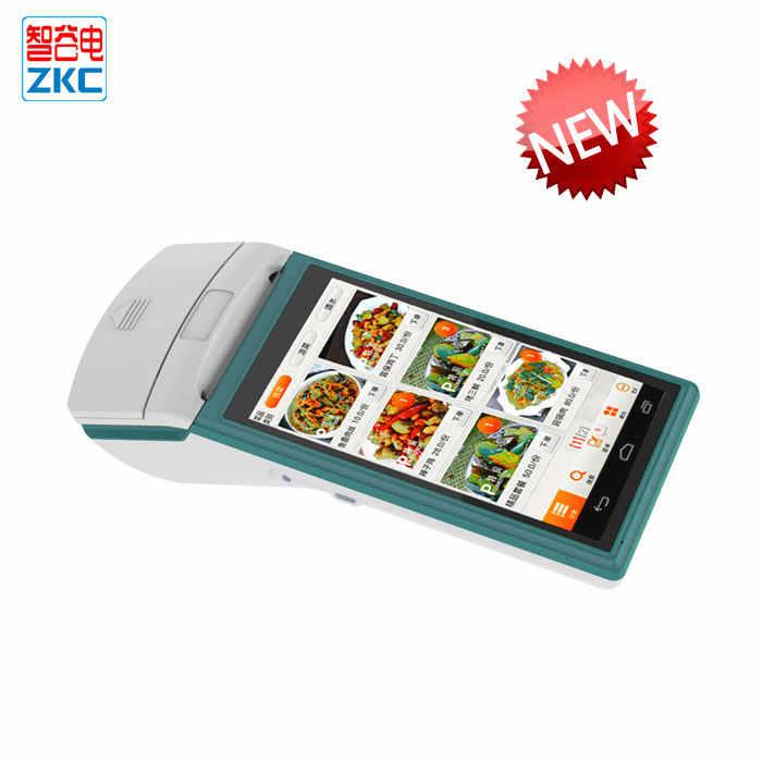 Mini Android Mobile POS Terminal dengan 58 Mm Thermal Printer NFC RFID Reader ZKC5501