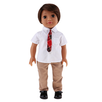 18 Inch Adorable American Boy Doll with Clothes Set Kids Birthday Christmas Gifts Children Clothes Model Crafts