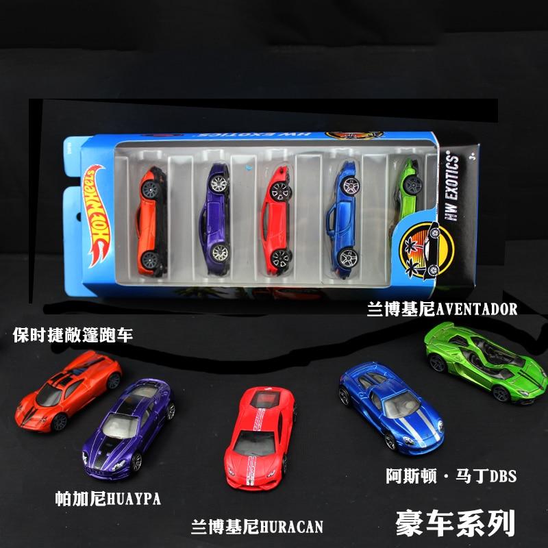 5pcs pack Original Hot Wheels 1 64 Metal Mini Model Car Kids Toys For Children Diecast