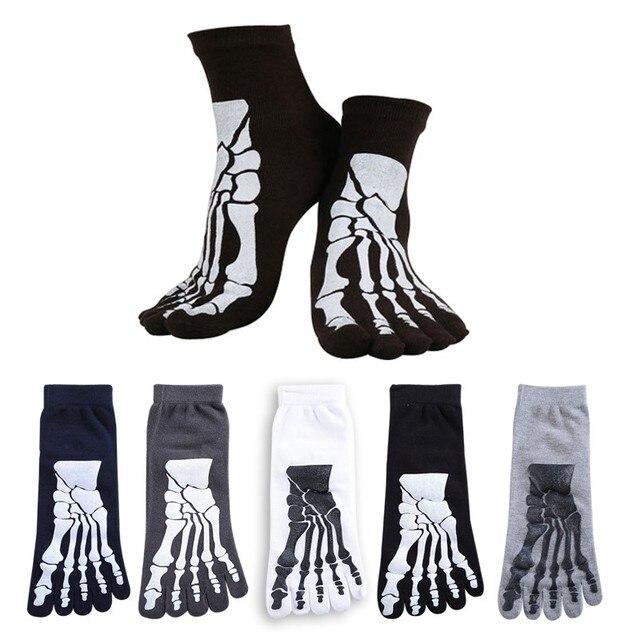 5 colores Punk Rock Unisex 3D estampado terror esqueleto dedo del ...