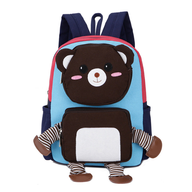 Bear Toy Children School Bags Kids Satchel Bag Children Backpack  Doll Lovely Backpacks Children's Gift for Boys and Girls