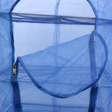 4 Layers 40 x 40 x 68cm Drying Net Fish Net Drying Rack Folding Hanging Vegetable Fish Dishes Dryer Net PE Hanger Fishing Net