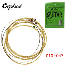 6 бр / пакет! Акустична китара String 010-047 Фосфорна бронза Шестоъгълна въглеродна стомана Струни за китара и части Аксесоари