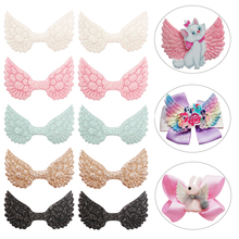 Cheer bow DIY Glitter Patches Garment Decorative Accessories For Clothing Gold Shiny Sequin Wings Craft Supplies