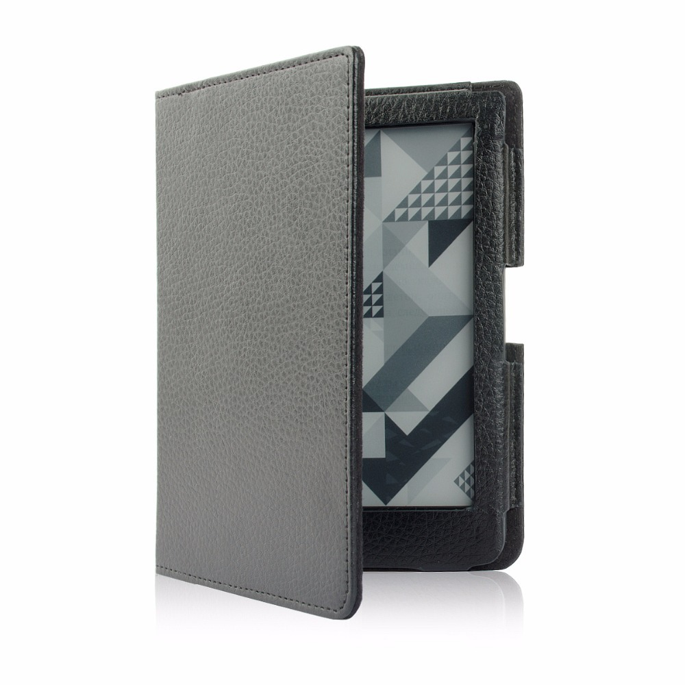Leather Cover Case for Pocketbook 630 Fashion Ebook Reader + Screen Protector + Stylus