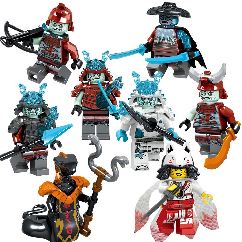 Single sell Legoing Ninjago Figures Blocks Nya Jay Zane Kai Cole Harumi Samurai X Action Figures Toys For Children