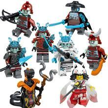 Single sell Legoing Ninjagoing Figures Blocks Nya Jay Zane Kai Cole Harumi Samurai X Action Figures Toys For Children