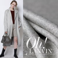 150cm width 300g/m weight grey white tweed 100%wool materials autumn winter dress overcoat DIY clothes fabric Freeshipping