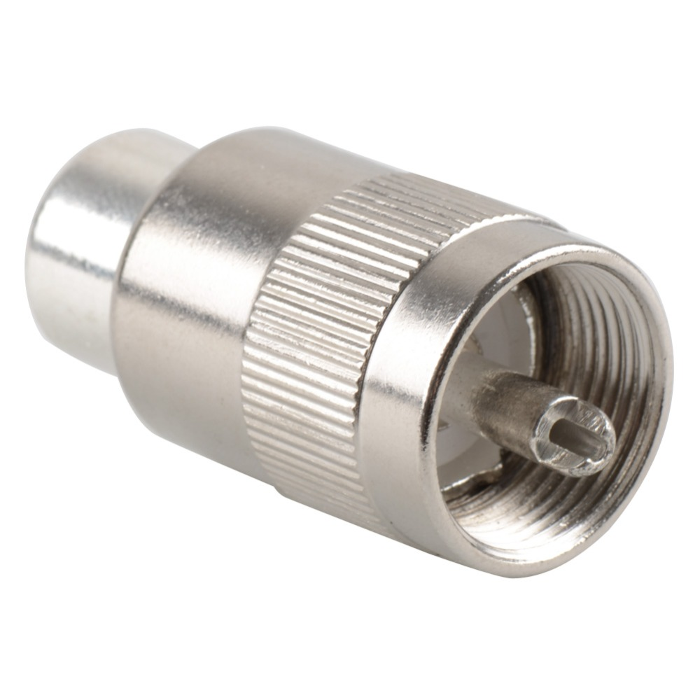 1pc Connector UHF Male PL259 Plug Solder RG58 RG142 LMR195 RG400 Cable Silver new sma male plug connector switch uhf male plug pl259 convertor rg58 50cm 20 adapter wholesale fast ship
