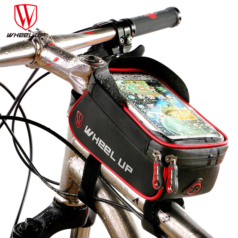 WHEEL UP Rainproof Front Zipper font b Bike b font Bag MTB Mountain Cycle Touch Screen